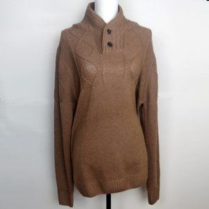 NWT Ministry of Fashion Brown Sweater Two Buttons